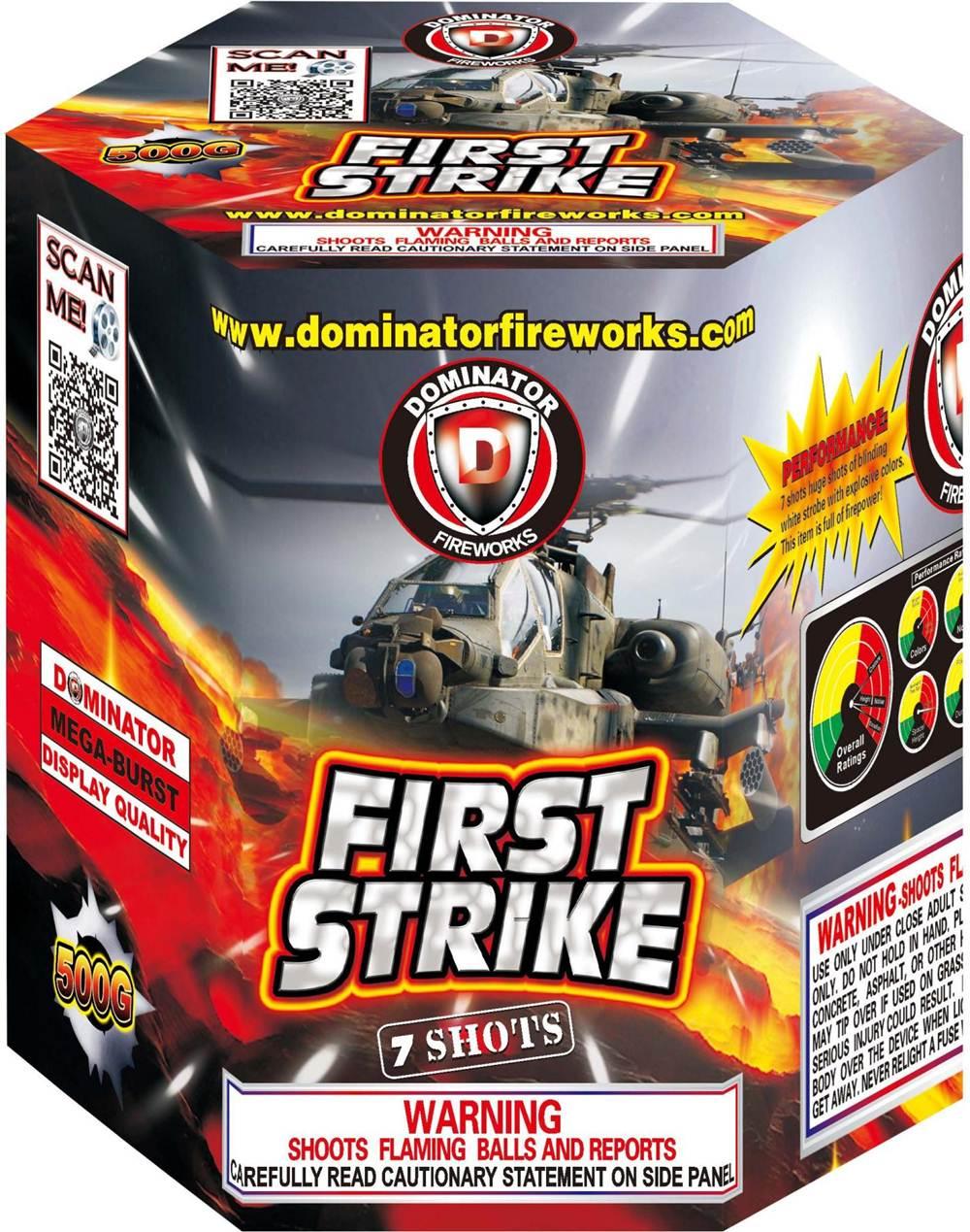 DM501 First Strike Dominator Brand Fireworks - Multi-Shot