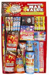Dominator Assortment Fireworks  Family Packs Safe and Sane